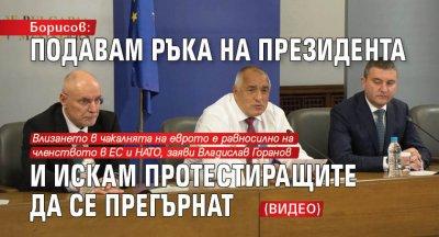 Борисов: Подавам ръка на президента и искам протестиращите да се прегърнат (ВИДЕО)