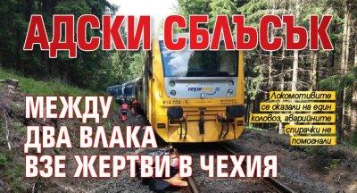 Адски сблъсък между два влака взе жертви в Чехия