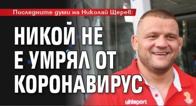 Последните думи на Николай Щерев: Никой не е умрял от коронавирус