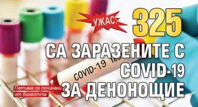 Ужас: 325 са заразените с COVID-19 за денонощие