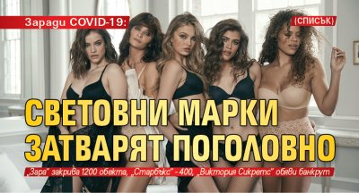 Заради COVID-19: Световни марки затварят поголовно (СПИСЪК)