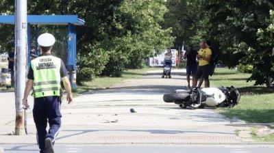 Стабилизиран е мотористът, пострадал край УНСС