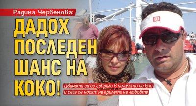 Радина Червенова: Дадох последен шанс на Коко!