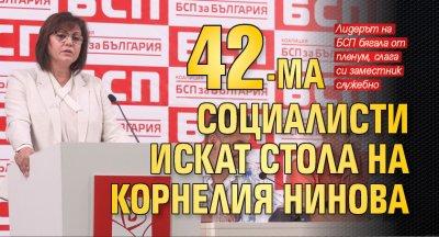 42-ма социалисти искат стола на Корнелия Нинова