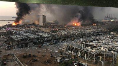 Експлозията в Бейрут е станала в склад със запалими материали