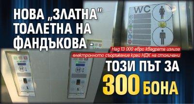 """Нова """"златна"""" тоалетна на Фандъкова - този път за 300 бона"""