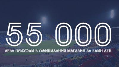 Левски регистрира 55 бона приходи от фенмагазина