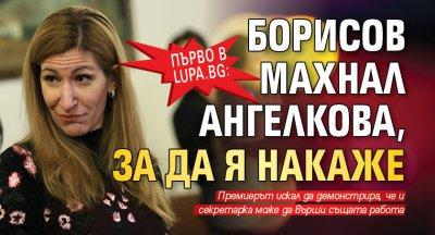 Първо в Lupa.bg: Борисов махнал Ангелкова, за да я накаже