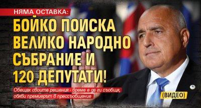 НЯМА ОСТАВКА: Бойко поиска Велико Народно събрание и 120 депутати! (ВИДЕО)