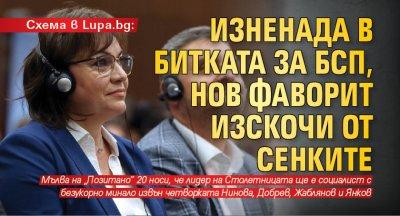Схема в Lupa.bg: Изненада в битката за БСП, нов фаворит изскочи от сенките