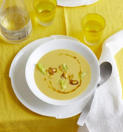 Царевична крем супа с целина
