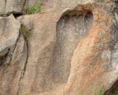 Чие е гигантското стъпало на 200 млн. години?