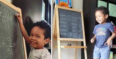 4-годишно решава дроби