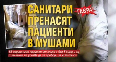 ГАВРА: Санитари пренасят пациенти в мушами