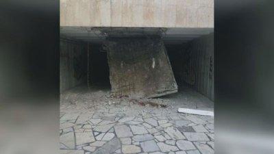 Пропадна таванът на подлез във Варна
