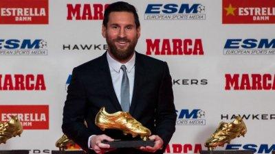 "Рекорд: Меси спечели трета поредна ""Златната обувка"""