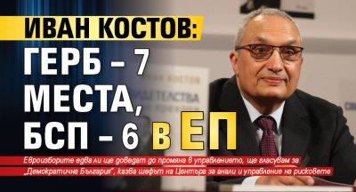 Иван Костов: ГЕРБ – 7 места, БСП – 6 в ЕП