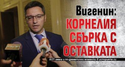 Вигенин: Корнелия сбърка с оставката