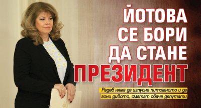 Йотова се бори да стане президент