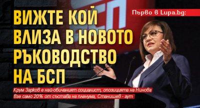 Първо в Lupa.bg: Вижте кой влиза в новото ръководство на БСП