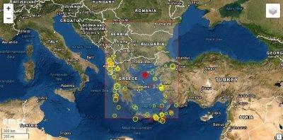 Трус в Егейско море разлюля и нас