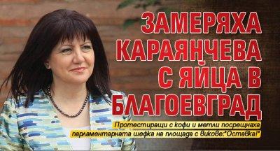 Замеряха Караянчева с яйца в Благоевград