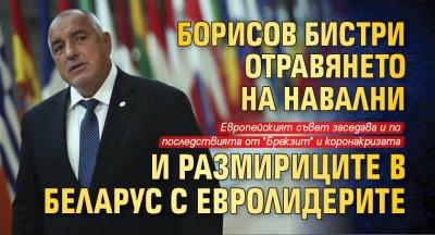 Борисов бистри отравянето на Навални и размириците в Беларус с евролидерите