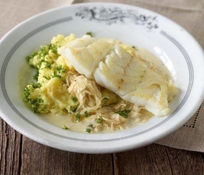 Риба със зеле и картофи