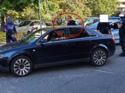 Три патрулки обсадиха дрогиран шофьор в Бургас (СНИМКИ)