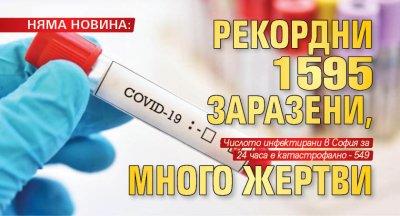 НЯМА НОВИНА: Рекордни 1595 заразени, много жертви