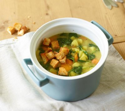 Картофена супа със спанак