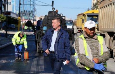Ново 20: Дъждът бави важен ремонт на пътя в София
