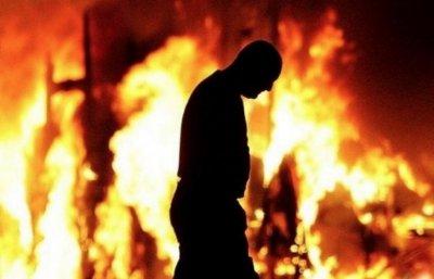 Мъж стана на въглен след пожар