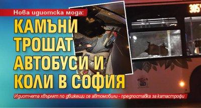 Нова идиотска мода: Камъни трошат автобуси и коли в София