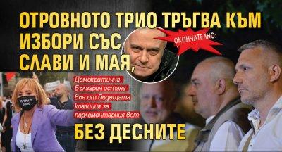 Окончателно: Отровното трио тръгва към избори със Слави и Мая, без десните