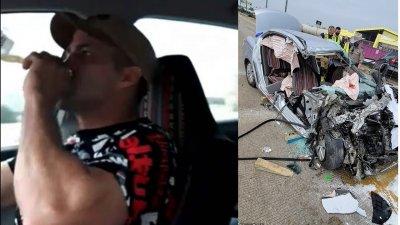 Шофьор пие зад волана и убива трима в катастрофа (ВИДЕО)