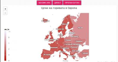 Къде е България в световната класация по цени на горивата