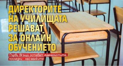 Директорите на училищата решават за онлайн обучението