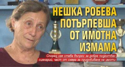 Нешка Робева потърпевша от имотна измама