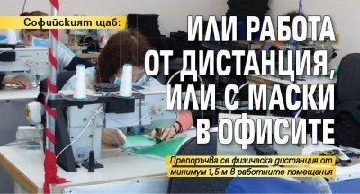 Софийският щаб: Или работа от дистанция, или с маски в офисите