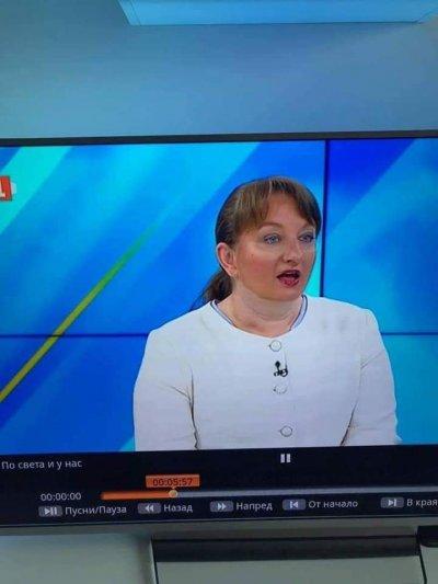 Резил: Деница Сачева цъфна на екран с боядисано лице