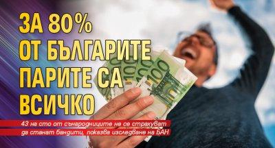 За 80% от българите парите са всичко