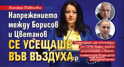 Лиляна Павлова: Напрежението между Борисов и Цветанов се усещаше във въздуха