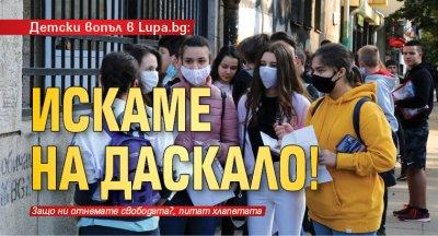 Детски вопъл в Lupa.bg: Искаме на даскало!