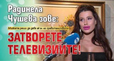 Радинела Чушева зове: Затворете телевизиите!