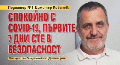 Педиатър №1 Димитър Ковачев: Спокойно с COVID-19, първите 7 дни сте в безопасност