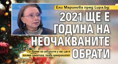 Ели Маринова пред Lupa.bg: 2021 ще е година на неочакваните обрати