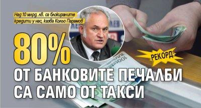 Рекорд: 80% от банковите печалби са само от такси