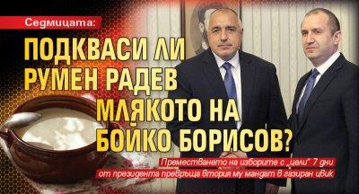 Седмицата: Подкваси ли Румен Радев млякото на Бойко Борисов?