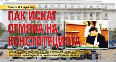 Само в Lupa.bg: Пак искат отмяна на Конституцията